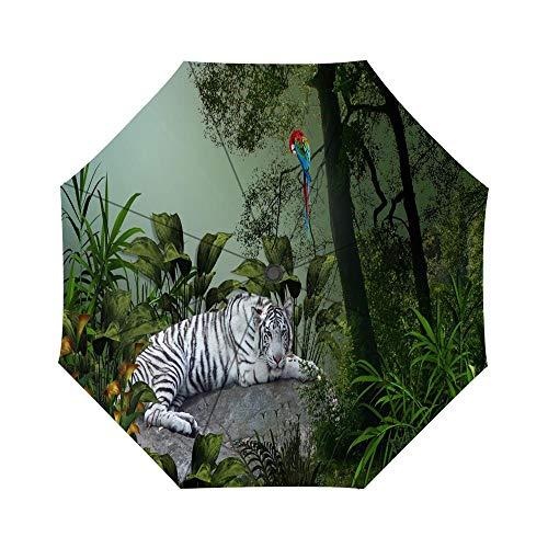 (Tiger Woods Umbrella Custom Umbrella, Folding Umbrella Rainproof & Windproof)
