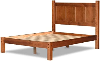 14f69dc7a2 Grain Wood Furniture Shaker Panel Queen Solid Wood Platform Bed Cherry  Merlot