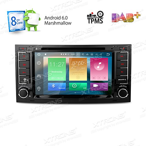XTRONS Android 6.0 Octa-Core 64Bit 7 Inch Capacitive Touch Screen Car Stereo Radio DVD Player GPS CANbus Screen Mirroring Function OBD2 Tire Pressure Monitoring for Volkswagen VW Touareg 2004-2011 by XTRONS