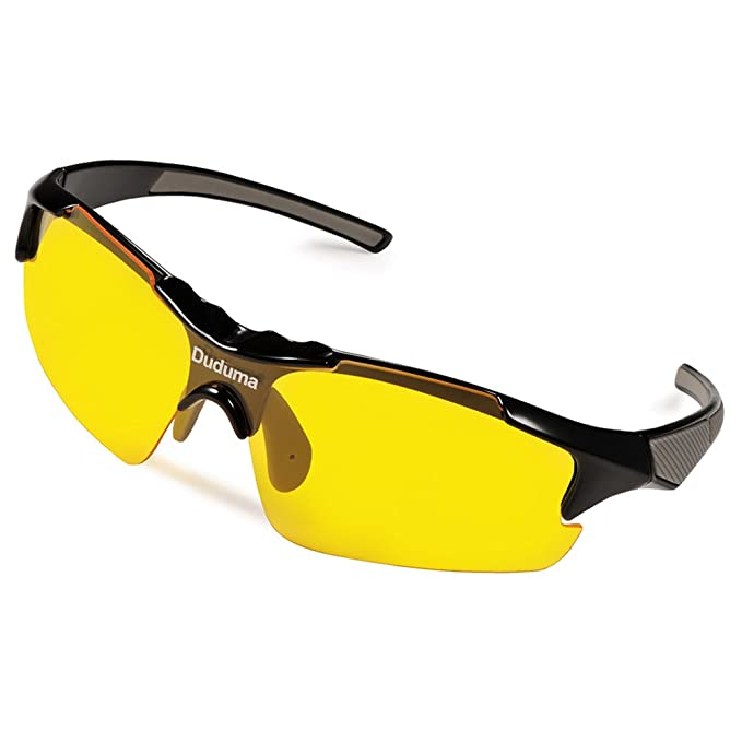 Duduma Gafas de Sol Deportivas Polarizadas Lente Amarilla Visión Nocturna Para Esquiar Golf Correr Ciclismo TR46