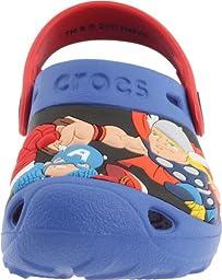 Crocs Marvel Super Hero Squad Custom Clog (Toddler/Little Kid),Sea Blue/Red,4-5 M US Toddler