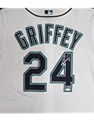 Seattle Mariners Ken Griffey Jr. Autographed White Majestic Jersey Size L Beckett BAS & Tristar Holo