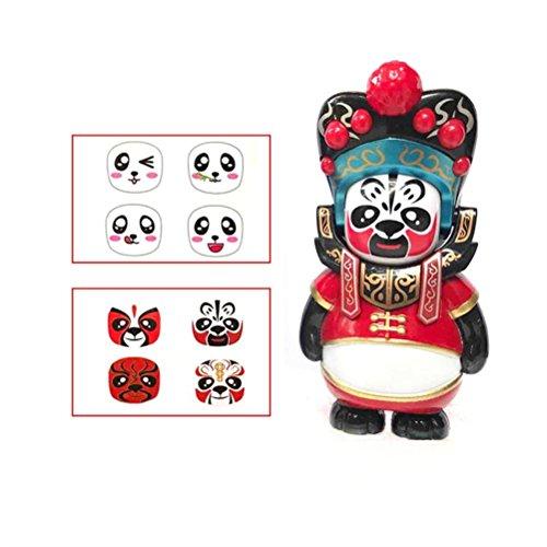 Gooldu New Chinese Traditional Opera Doll Sichuan Face Changing Panda Opera Figure Toy (Chinese Opera Dolls)