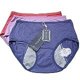 Anna & Eric Women's 3 Pack Bamboo Viscose Fiber Leakproof Menstrual Period Panties(RPBl-M)