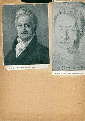 Vintage photo of Cartoon paintings by Johann Wolfgang von Goethe, German poet