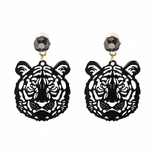 tiger head earrings - 1