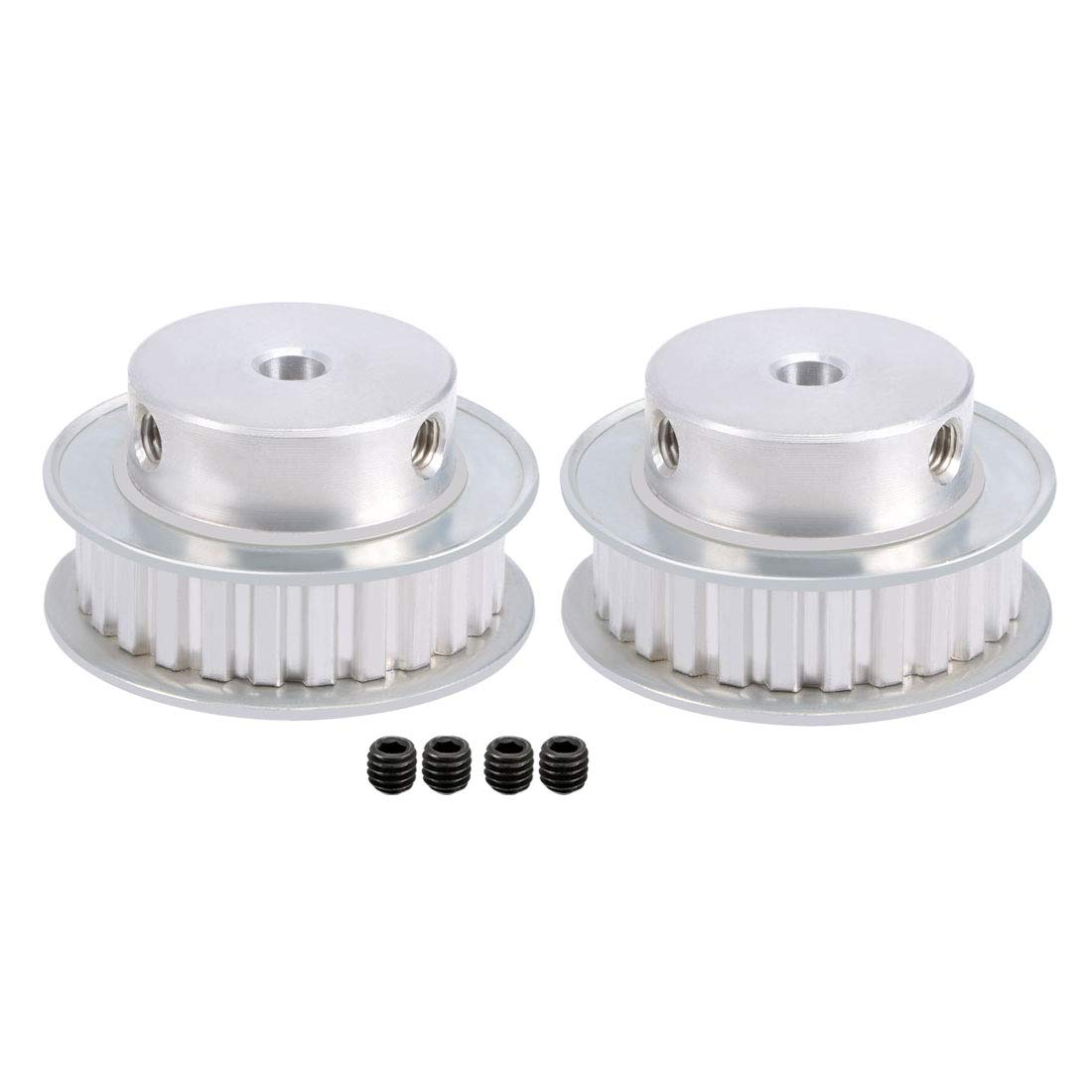 Uxcell Aluminum Xl 15 Teeth 6mm Bore Timing Belt Pulley Flange Cnc Belts And Pulleys Synchronous Wheel For 10mm 3d Printer A18060700ux0416