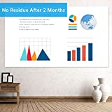Dry Erase Contact Paper, Upgraded Dry Erase Wall Sticker, PET White Board Stickers for Wall, 11 ft Dry Erase Stickers for Tables & DIY Works at Home, Office, 3 Free Markers-Wipe Clean After 2 Months