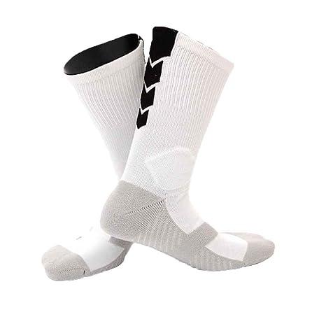 Republe 1 par Masculino Deportes al Aire Libre de Baloncesto Inferior Grueso Calcetines Hombres Marat/ón de Ejecuci/ón de Boxeo al Aire Libre Calcetines Gruesos