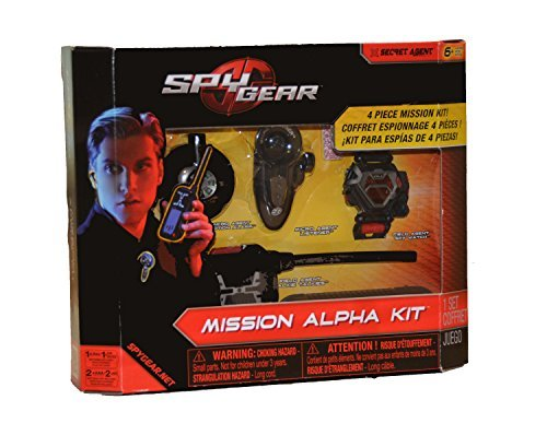 Spy Gear Mission Alpha Kit - Deluxe Set including Walkie Talkies, Spy Watch, Listening Device and Motion Alarm