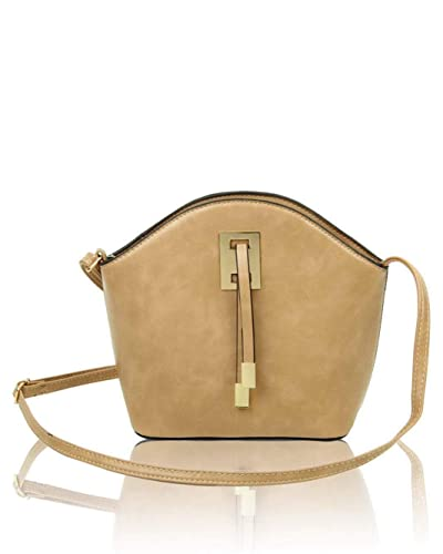 New Womens Plain Classic Design Messenger Handbag//Crossbody Shoulder Style Bag