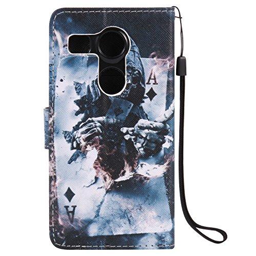 Funda LG Nexus 5X OuDu Carcasa de Billetera Funda PU Cuero Carcasa Suave Protectora con Correas de Teléfono Funda Arbol Flip Wallet Case Cover Bumper Carcasa Flexible Ligero Ultra Delgado Caja Anti Ra Nigromante