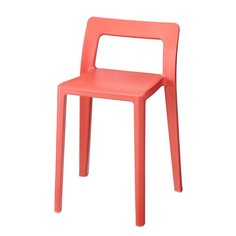同色2脚組(ENOTS ミニマルスタッキングチェア) 534710(サイズはありません ウ:オレンジ) B07BX42476 ウ:オレンジ ウ:オレンジ