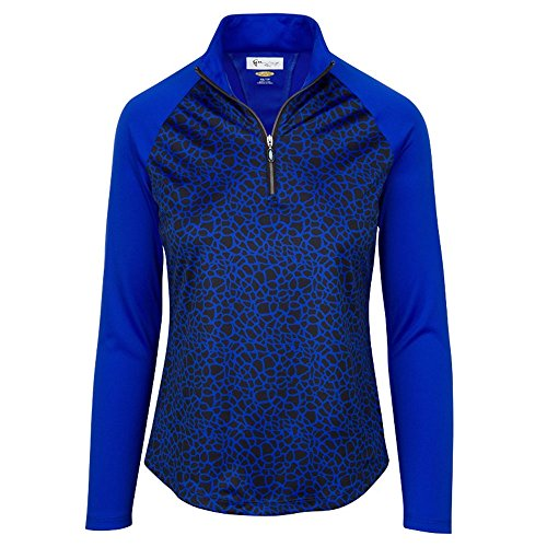 Greg Norman Ladies 1/4 Zip Giraffe Longsleeve Polo XX-Large - Women Norman