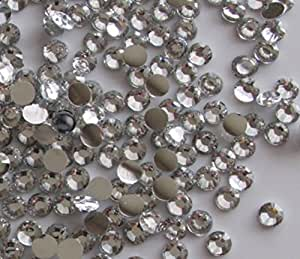 Yueton 1440pcs 3mm(12ss) DIY Crystal Round Flatback Rhinestone Nail Art Cellphone Case Decoration(clear)