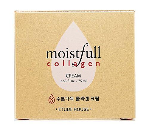 ETUDE HOUSE Moistfull Collagen Cream, Soft Moist Gel Type Moisturizing Facial Cream, 63.4% Super Collagen Water & Bobab Water Makes Skin Plumpy with Long Lasting Moist, 2.53 Fl Oz 4