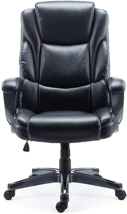 Staples 2710763 Mcallum Bonded Leather Managers Chair Black