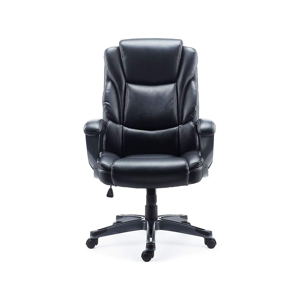 Staples 2710763 Mcallum Bonded Leather Managers Chair Black by Staples