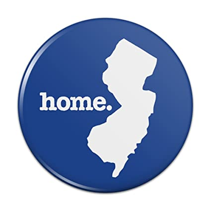 New Jersey NJ Home State Solid Navy Blue Officially Licensed Kitchen  Refrigerator Locker Button Magnet