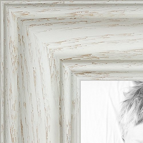 ArtToFrames 16x24 inch Off White Wash on Ash Wood Picture Frame, WOM0151-59504-475-16x24 24 Wood Picture Frame Frames