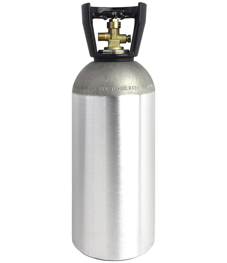 CO2 10 LB Aluminum Cylinder Tank Empty New with CGA 320 Valve (Homebrewed Draft Beer)