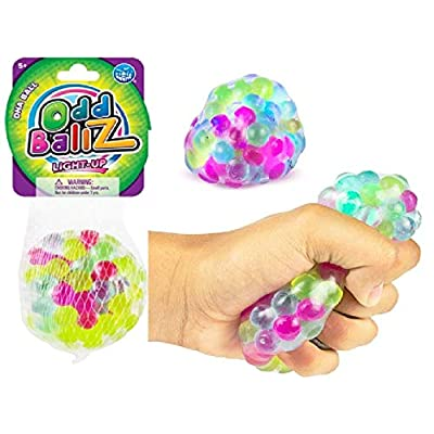 Play Visions Multi Colored Light Up Stress Ball - Squishy Squeeze Ball Alleviate Tension, Anxiety: Toys & Games