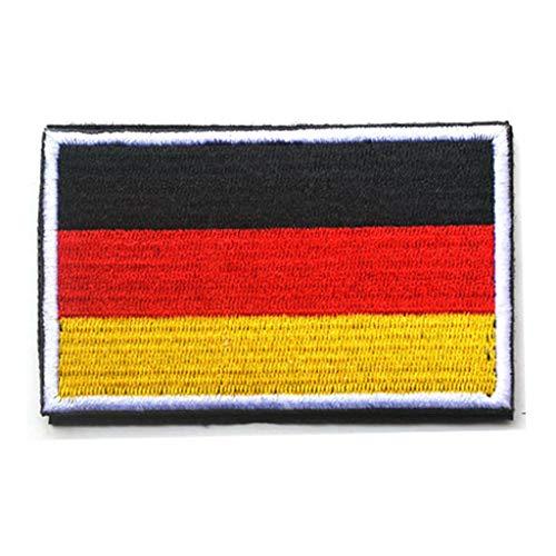 ShowPlus Germany DE Flag Military Embroidered Tactical Patch Morale Shoulder Applique