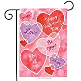 Valentine's Messages Garden Flag Hearts Holiday 12.5