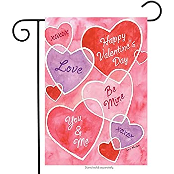 Amazon.com : Love One Another Valentine\'s Day Garden Flag 12.5\