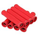 Bang4buck Pack of 8 Universal Heater Protector Spark Plug Protect Boot 1600 Degree Red Heat Shield Thermal Protection Insulators 6 inch for Most Cars Trucks
