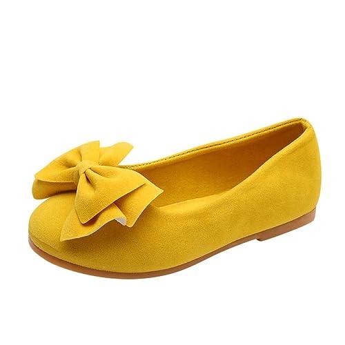 Mitlfuny Niños Zapatos Primavera Verano Moda Arco Fiesta Princesa Zapato para bebé Niñas Antideslizantes Suela con