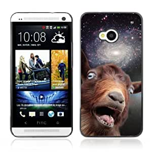 YOYOSHOP [Funny Space Goat Meme] HTC One M7 Case by mcsharks