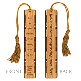 Personalized Little Women Quote - Author - Louisa May Alcott Inspiring Quote Engraved Wooden Bookmark with Tassel - Search B01GQCIH1E to see non personalized version.