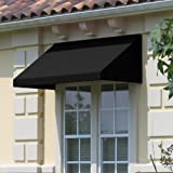 Awntech 6-Feet New Yorker Window/Entry Awning, 24 by 36-Inch, Black