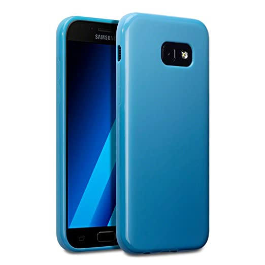 6 opinioni per Terrapin TPU Gel Custodia per Samsung Galaxy A5 2017 Cover, Colore: Opaco Blu