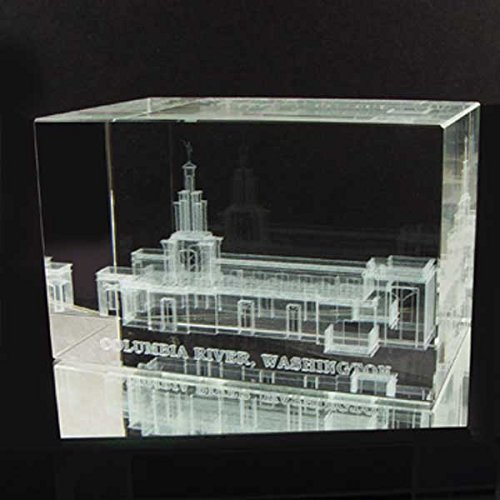 """CRYSTAL CUBES Amazing 3D Laser Print of """"Columbia River"""