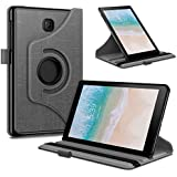 Infiland Samsung Galaxy Tab A 8.0 2018 Case, 360 Degree Rotating Case Cover Compatible with Samsung Galaxy Tab A 8 Inch 2018 Release Model T387 Tablet Verizon/Sprint/T-mobile, Gray