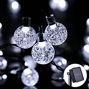 Icicle solar string lights 20ft 30 led solar powered - Indoor string lights ideas ...