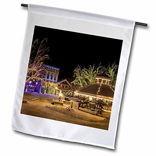 - 3dRose fl_95169_1 Washington/Leavenworth/Christmas Holiday Lights US48 BJA0279 Jaynes Gallery Garden Flag, 12 by 18-Inch