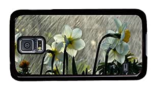 Hipster Samsung Galaxy S5 Case water proof covers daffodils rain PC Black for Samsung S5