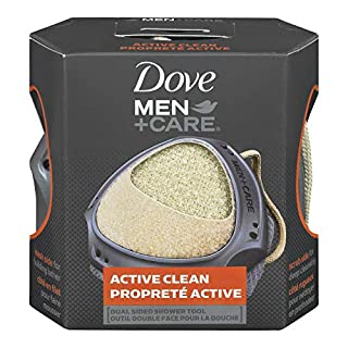 Dove Men+Care Dual Sided Shower Tool for perfect lather Active Clean dermatologist recommended 1 count (B00BOVOK3W) | Amazon price tracker / tracking, Amazon price history charts, Amazon price watches, Amazon price drop alerts
