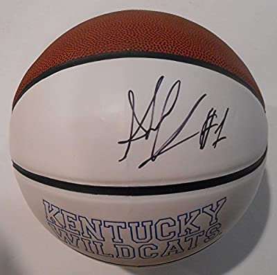 Skal Labissiere Signed Kentucky Wildcats Logo Basketball w/JSA COA SD08607