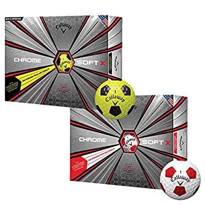 Callaway Golf Chrome Soft X Truvis Golf Balls, (One Dozen)