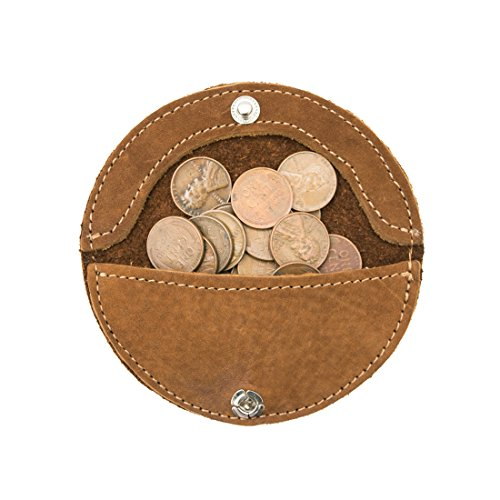 Rustic Leather Moon Coin Case Handmade by Hide & Drink :: Swayze Suede