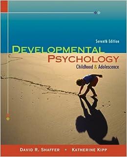 Thomson Advantage Books: Developmental Psychology: Childhood and Adolescence
