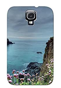 Defender Case For Galaxy S4, Cliffside Flowers Pattern, Nice Case For Lover's Gift