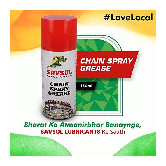 SAVSOL Chain Spray Grease is high Performance Motorcycle Chain Spray Grease Specially formulated to Provide Superior