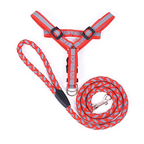 365Cor 5 Colors Reflective Dog Harness And Leash Set 120cm L