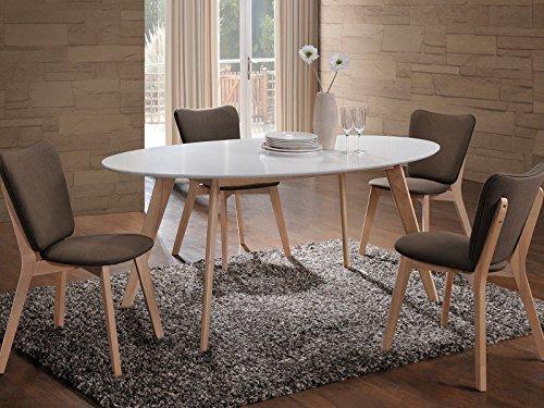Mesa cocina comedor mesa Color Blanco/Roble Scandinavian Loft ...