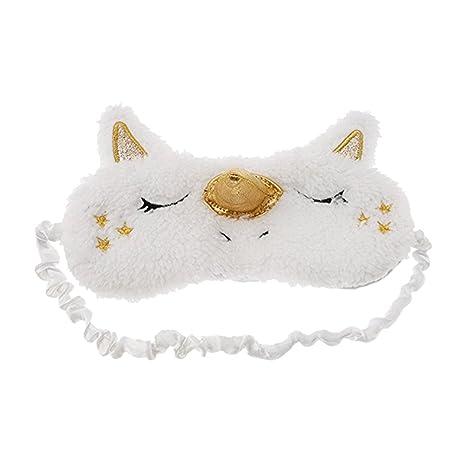 Doitsa Máscaras de Sueño Unicornio Animales Diseño Kawaii Estilo Máscara para los Ojos Mignon Diadema Ojos